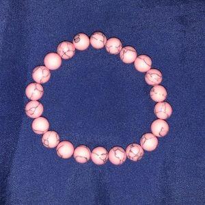 Jewelry - Pink Turquoise Stone Mala Beads Bracelet